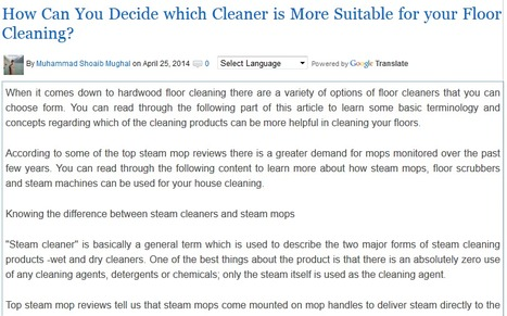 How Can You Decide which Cleaner is More Suitable for your Floor Cleaning?   Steam Mops   Scoop.it
