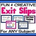 EXIT PASSES FOR ANY SUBJECT! Effective and Creative Formative Assessments | Assessment | Scoop.it