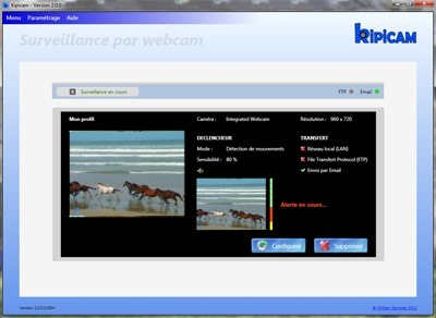 KIPICAM - Logiciel pour Webcam de vidéo surveillance | Actus vues par TousPourUn | Scoop.it