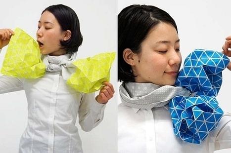 Inflatable Kaku Kaku Balloon Stole brings origami to couture fashion | Couture, crochet et autres plaisirs | Scoop.it