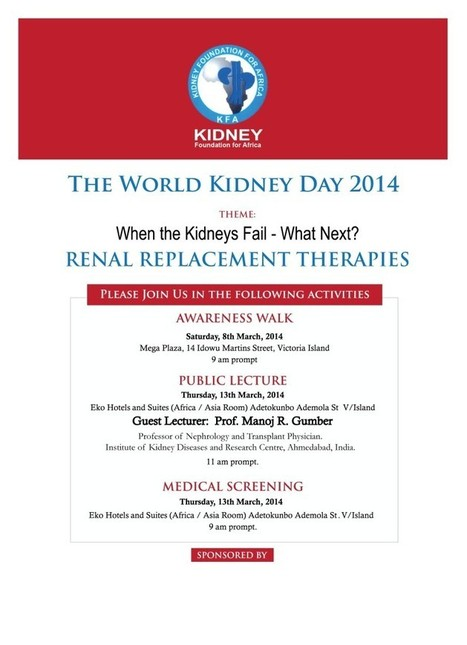 World Kidney Day 2014 | KIDNEY AFRICA | World Kidney Day - Celebrations | Scoop.it