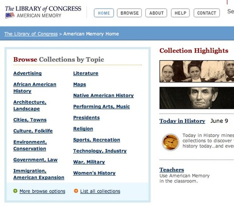 American Memory from the Library of Congress - Home Page   Social Media Research, Research Social Media   Scoop.it
