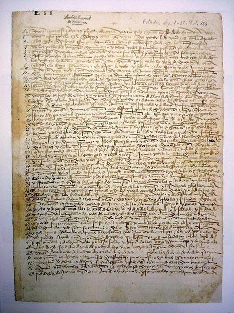 Twitter / Libroantiguo: Manuscript from Cristopher ...   Literary   Scoop.it