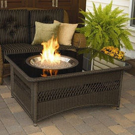 Patio Heaters And Fire Pit Blog: Outdoor GreatRoom Company Resin Wicker Fire Pit Table in Saddle Reviews | For The Home | Scoop.it