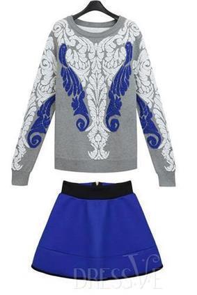 Floral Print Knit Sweater Suit | Dressve fashion | Scoop.it