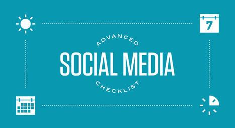 La CheckList du Social Media Manager (Infographie) ! | Livre Personal Branding MOI20 par Fadhila Brahimi | Scoop.it