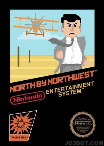 Cool Art: Psycho, The Birds and North by Northwest as 8 Bit Nintendo Games | Live for Films | Tracking Transmedia | Scoop.it
