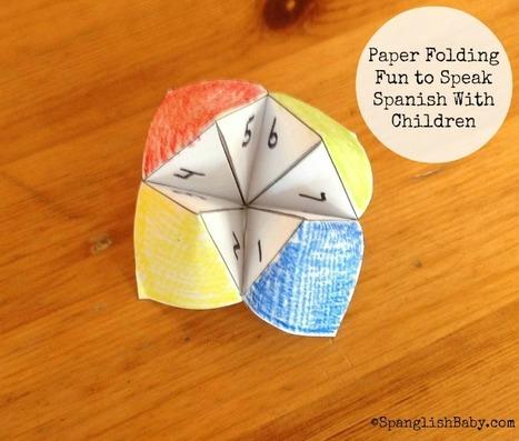 Paper Folding Fun to Speak Spanish With Children {Printable}   Education   Scoop.it