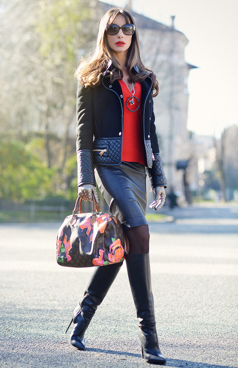 Black Leather And Touches Of Red - | Fashion blog di moda | Scoop.it