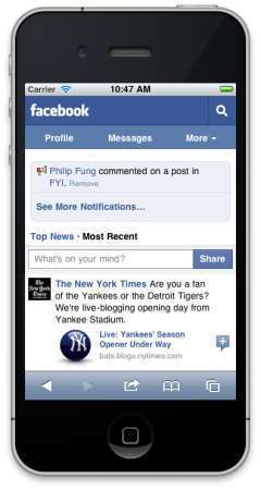 Facebook Launches New Mobile Website – iPhone Hacks | Social media marketing | Scoop.it