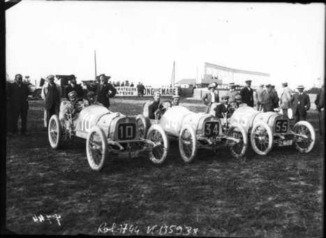 Equipe Peugeot [Jules Goux, Georges Boillot et Giosué Guippone, Grand prix de voiturettes, course automobile à Dieppe, le 6 juillet 1908] | - www.f1-france-grand-prix.com - Formula 1 France Grand Prix - | Scoop.it