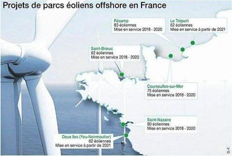 Éolien en mer. Six projets bientôt en chantier dans l'Ouest | Energies Renouvelables scooped by Bordeaux Consultants International | Scoop.it