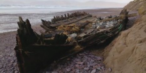 111-Year-Old Shipwreck Uncovered By Superstorm Waves In Ireland (VIDEO) - Huffington Post | Histoire et archéologie des Celtes, Germains et peuples du Nord | Scoop.it