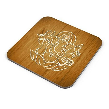 White Hand Drawn Ganesha with Wooden Board Background Coaster | Latest Best Punjabi Bollywood Songs Djpunjab Music Mp3 Hindi Songs | Scoop.it