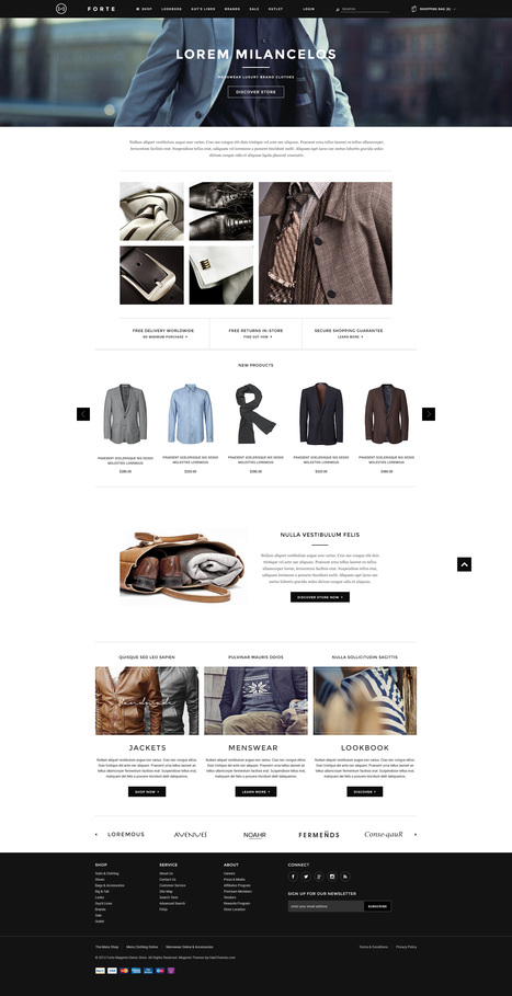 Go FORTE - Mens Clothing Responsive Magento Go Theme - HaloThemes.com | Magento Templates | Scoop.it