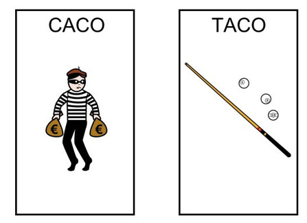¿Caco? ¿taco? Oposiciones fonológicas K/T | mardecoseslogopedia | Scoop.it