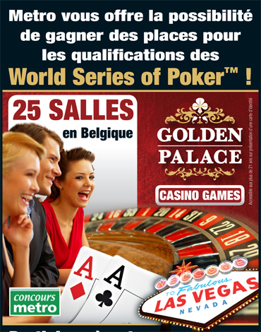 Gagner des places pour les qualifications des World Series of Poker! | Official satellite WSOP®2011 www.goldenpalace.be | Scoop.it