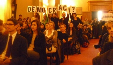 Researchers occupy university during lecture by EU President | Reflections on a Revolution ROAR | Europe & Africa  E&A | Scoop.it