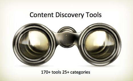 Content Discovery Tools: a Directory of My Favorite Ones | Stretching our comfort zone | Scoop.it