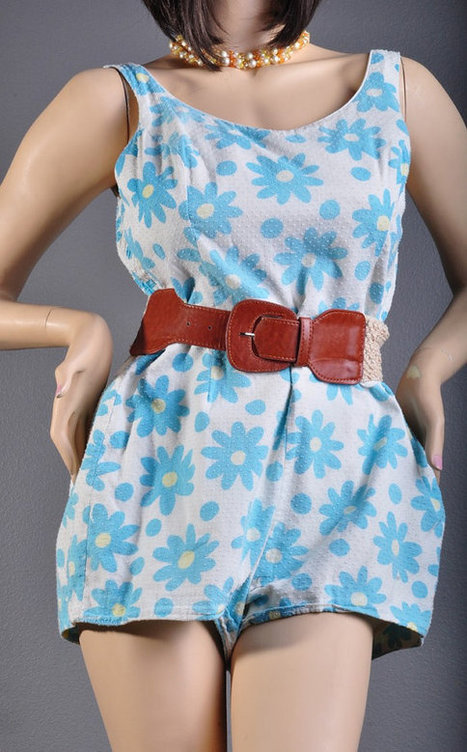Gorgeous 1950's Daisy Floral Vintage PlaySuit / Romper by Glenbrooke | Vintage Jewelry and Fashions | Scoop.it
