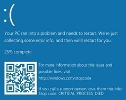 Microsoft's BSOD QR Code – 2d-code | QR Code Art | Scoop.it