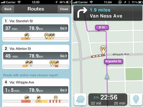 Waze's Maps Now Change as Roads Close | iPad Apps for Education | Scoop.it