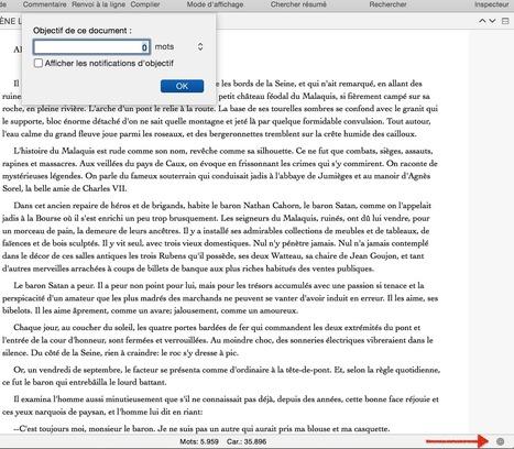 Les bases de l'interface de scrivener - partie 3 le pied de page | Scrivener, lecture et écriture numérique | Scoop.it