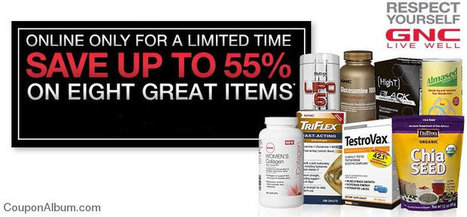 GNC Online Only Up To 55% Savings & More! | Coupons & Deals | Scoop.it