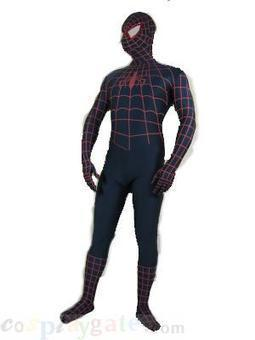 Black Red Stripe Spiderman Lycra Spandex Super Hero Zentai Suit free shipping - wholesale Lycra Spandex Zentai Suits - wholesale Catsuits & Zentai - CosplayGate.Com | spiderman suit,spiderman costumes wholesale | Scoop.it