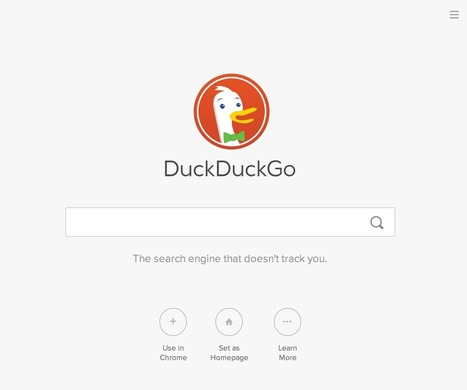 DuckDuckGo. Η εναλλακτική μηχανή αναζήτησης που αγαπά την ... - Digital Life | SEO | Scoop.it