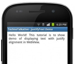 Android - How to display information with justify alignment? - TechnoTalkative | Android Development for all | Scoop.it