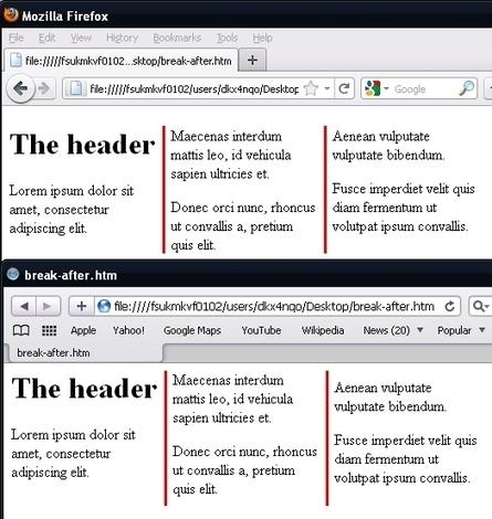 html - CSS column breaks? - Stack Overflow | Creative Designers | Scoop.it