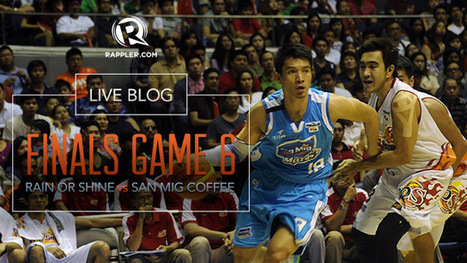 AS IT HAPPENS: Rain or Shine vs San Mig Coffee PBA Finals game 6 | Philippine Basketball Association at its finest | Scoop.it