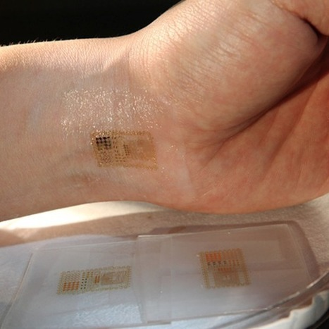 Electronic tattoos printed on skin to transmit medical data | BIOSCIENCE NEWS | Scoop.it