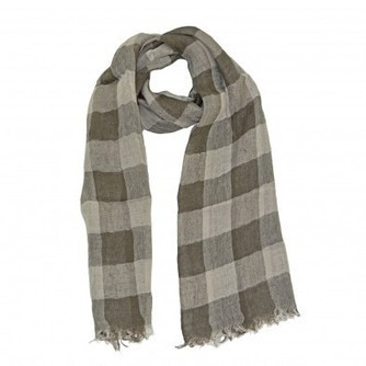 Libby Striped with Trim Scarf - Hemp - Material | scarfuniverse | Scoop.it