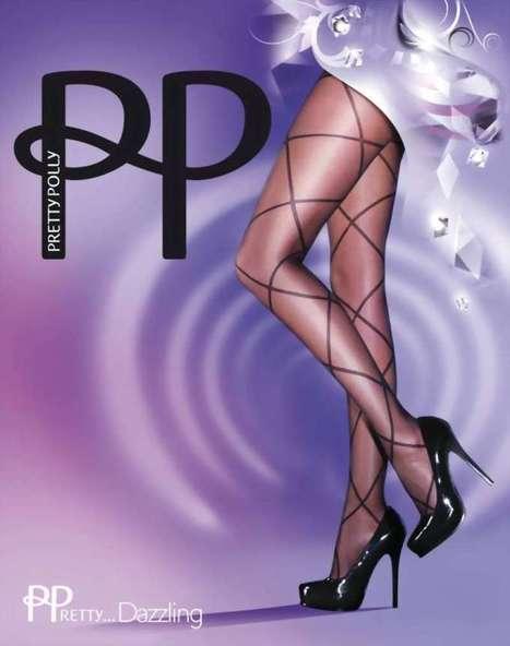 Trendy pantys met ruitjespatroon PPretty ... Dazzling van Pretty Polly zwart, maat one size   pantys-boutique.nl   Pantys Kousen   Scoop.it