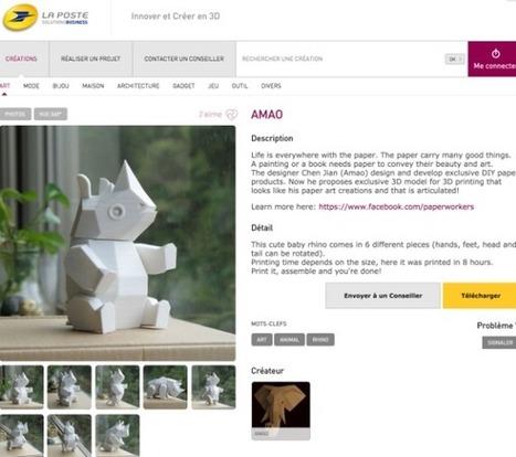 La Poste : un espace en ligne dédié à l'impression 3D | Les Postes et la technologie | Scoop.it