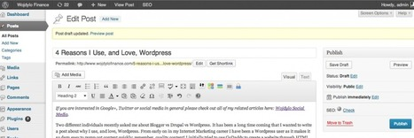 4 Reasons I Use, and Love, Wordpress | Communication & Social Media Marketing | Scoop.it