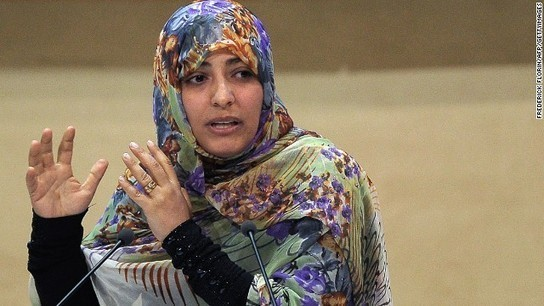 Yemeni Nobel laureate Tawakkol Karman gives away $500,000 prize money