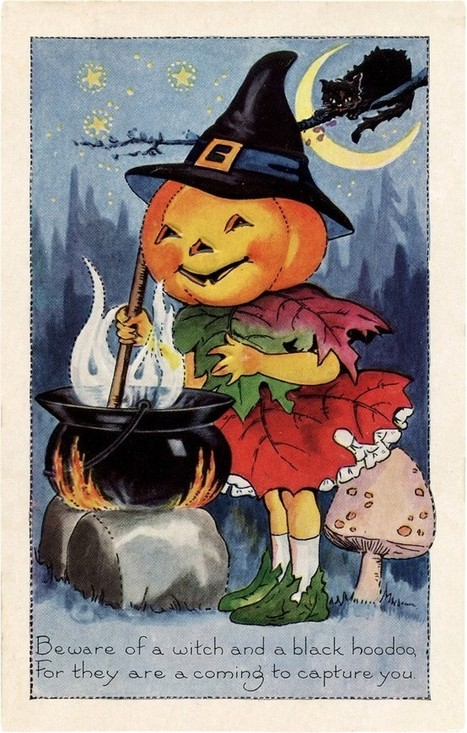 Cute Halloween Pumpkin Witch Image! - The Graphics Fairy   Decoupage   Scoop.it