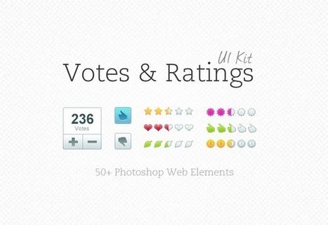 Votes & Ratings UI Kit | MediaLoot | Dealshakr | Scoop.it