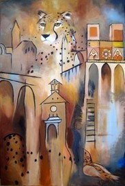 """""""Nature's Cathedral"""" painting in Cheetah Conservation Fund auction - lovetheplanet 