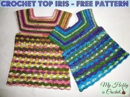 My Hobby Is Crochet: Crochet Top Iris, Child Size 3-5 Years - Free Crochet Pattern | Free Crochet Patterns | Scoop.it