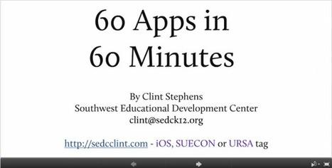 60 aplicaciones educativas en 60minutos | Idees , eines i material educatiu per l'escola del segle XXI | Scoop.it