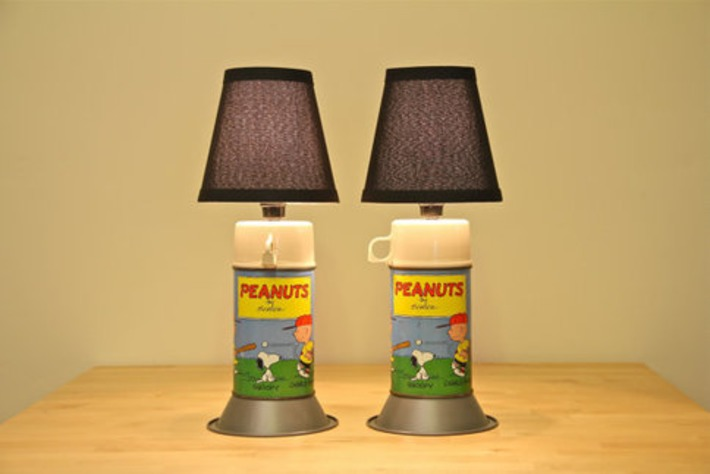 Peanuts Vintage Thermos Table Lamps | Kitsch | Scoop.it