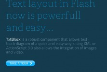 TxtBlock - A Robust TextField Component | Everything about Flash | Scoop.it