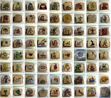 Graphic Designer Dad Illustrates His Kids' Lunch Bags Almost Every Day Since 2008... | Art for art's sake... | Scoop.it