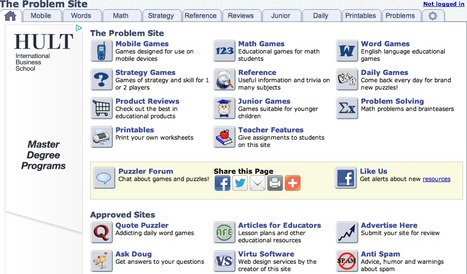 The Problem Site: Problem Solving and Educational Games | Mathematics | Scoop.it