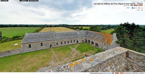 Visite virtuelle - Les toits du château de Pirou depuis la tour carrée - France par Pascal Moulin | normandie360panoramic | Scoop.it