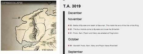 Mapa interactivo y timeline de la Tierra Media | Recull diari | Scoop.it